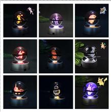 K9 Crysal Pokemon Ball Elegant  Pokemon Go Ball Small 50x50mm Size Crystal Ball With Black Line dragonite 3d crystal ball pokemon go light glass ball engraving round with black line ball led colorful base child s gift