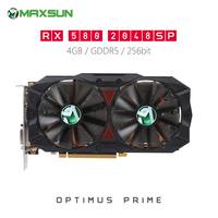 Origianl MAXSUN Radeon RX580 2048SP Plus 4GB Video Graphics Card for Gaming GDDR5 AMD Map Supports DP HDMI DVI