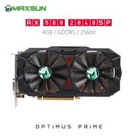 Origianl MAXSUN Radeon RX580 2048SP Plus 4GB Video Graphics Card for Gaming GDDR5 AMD Map Supports DP HDMI DVI