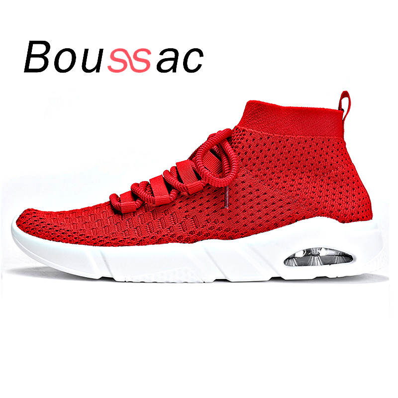 Breathable increased air cushion 2018 spring running shoes men outdoor cushioning flying woven lightweight sports shoes men