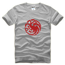 Game of Thrones HBO House Targaryen Fire & Blood Dragon Printed Mens Men T Shirt Tshirt 2015 Cotton T-shirt Tee Camisetas Hombre(China)