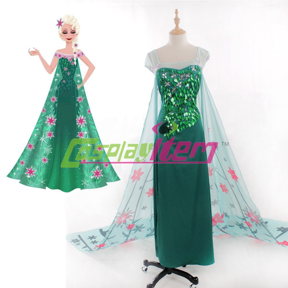Hot Customized Princess Elsa cosplay Adult Cosplay dress Women Halloween Costume - Cosplayitem COS store