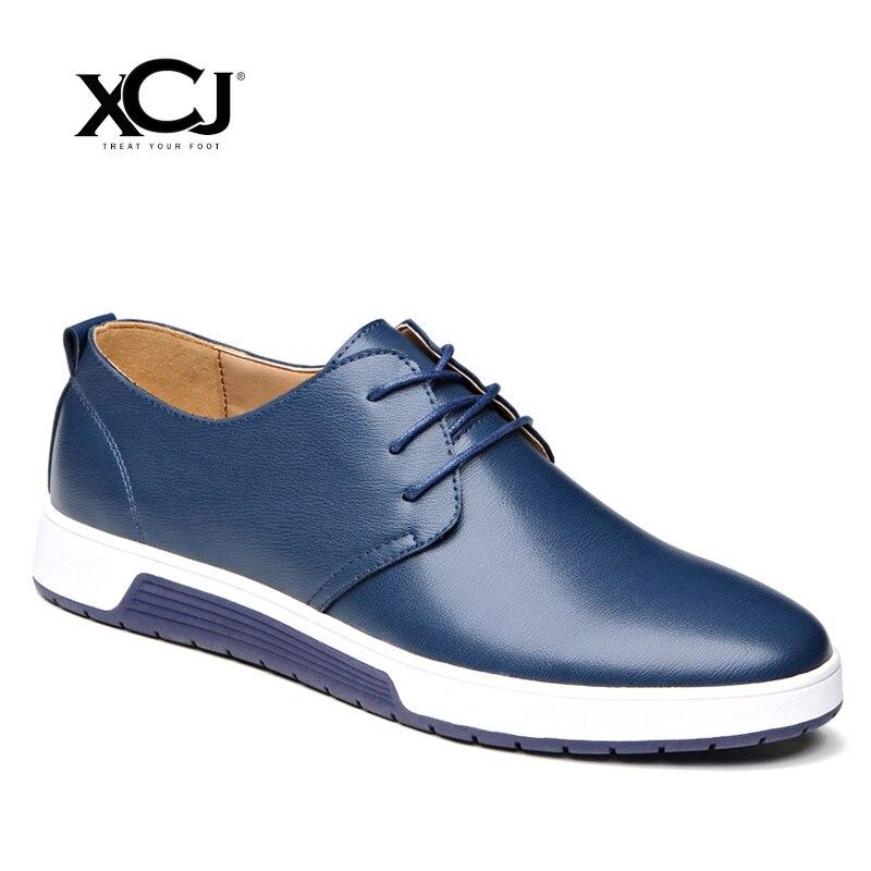 Split Leather Men Casual Shoes Men Sneakers Brand Men Shoes Plus Big Size 47 48 Flats Slip On Spring Autumn Slip On XCJ цена