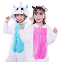 SAILEROAD Childrens Pajamas Set For Girls Unicorn Kids Flannel Kigurumi Child Animals Pyjamas Sleepwear Winter Onesies