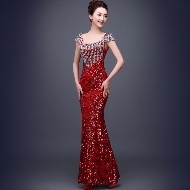 Rhinestone 2016 New Long Night Party Dresses Dress Maxi ... - photo#32