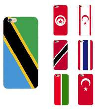 Tanzania Tatarstan Thailand Trinidad and-Tobago Tukish Republic of Northern Cyprus Tunisia Turkey National Flag TPU Phone Cases(China)