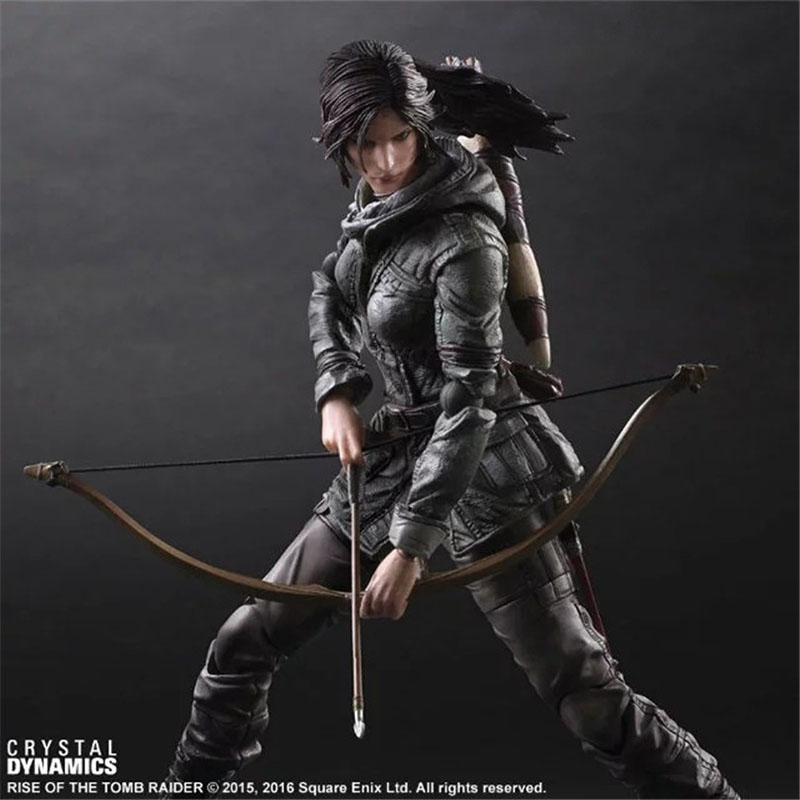 26cm The Tomb Raider PVC Action Figure Toys Lara Croft Toy Marvel Anime Figure Laura Collectable Tomb Raider Croft Play Arts tobyfancy the tomb raider action figure lara croft play arts kai toys 270mm anime movie toys rise of the tomb raider