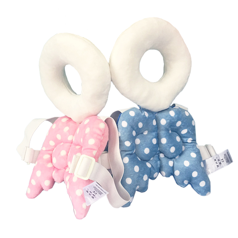 Baby Head Beskyttelsespude Cute Angel Wing Bomuldspude Anti Crash Toddler Care Nakkestøtte Spædbarn Walk Fall Down nursing pillow