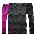 women/Men pants Classic Casual men's military pants Trousers warm winter Softshell fleece outwear waterproof long pant with belt