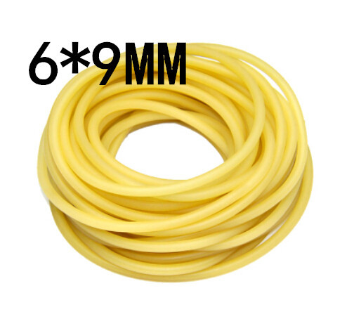(5M without joint) 6x9mm Natural Latex Rubber Band Bungee Accessory for Outdoor Hunting Slingshot Catapult Elastic Parts #6090