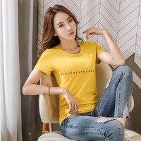 2019 cotton casual o neck tshirt women t shirt short sleeve