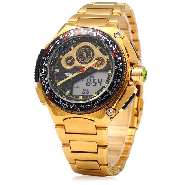 Men Wristwatches Business New Dual Display Man Watch Clock