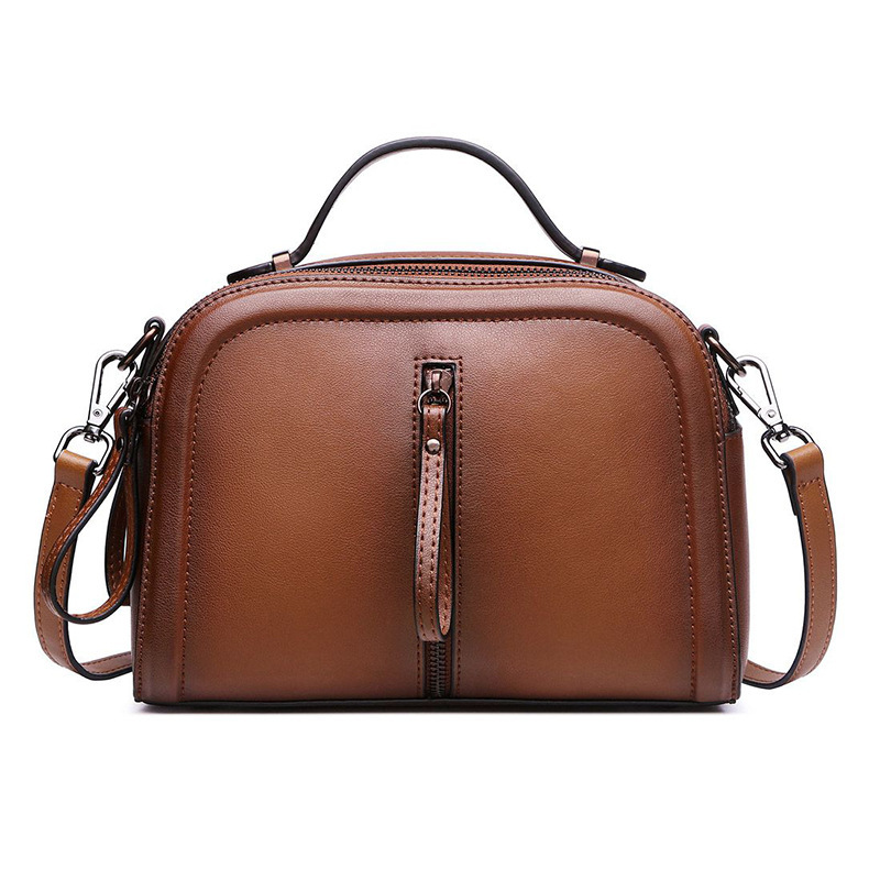 Real Leather Bag Ladies Tote Shoulder Bag Handbags Women Famous Brands Bag Genuine Leather Square Package