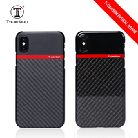 T carbon Carbon Fiber Rubber Phone Case Signal Well fit for iPhone X IX Cover Rugged Fundas