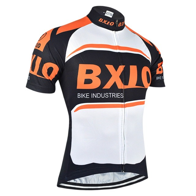 00fbe41b0 BXIO Orange Cycling Jerseys Pro Team Short Sleeve Bicycle Jersey MTB  Breathable Quick Dry Bike Clothing Ropa Ciclismo BX-007-J