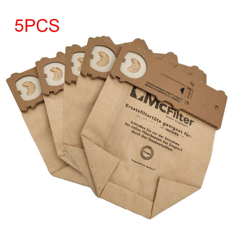 5pcs/lot Bags For <font><b>VORWERK</b></font> KOBOLD <font><b>VK130</b></font> VK131 FP130 FP131 KOBOLD130 KOBOLD131 vacuum cleaner Dust Bags Paper bag image