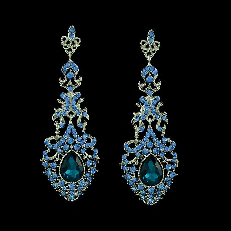 Long Chandelier Earrings forwardcapitalus – Aqua Chandelier Earrings