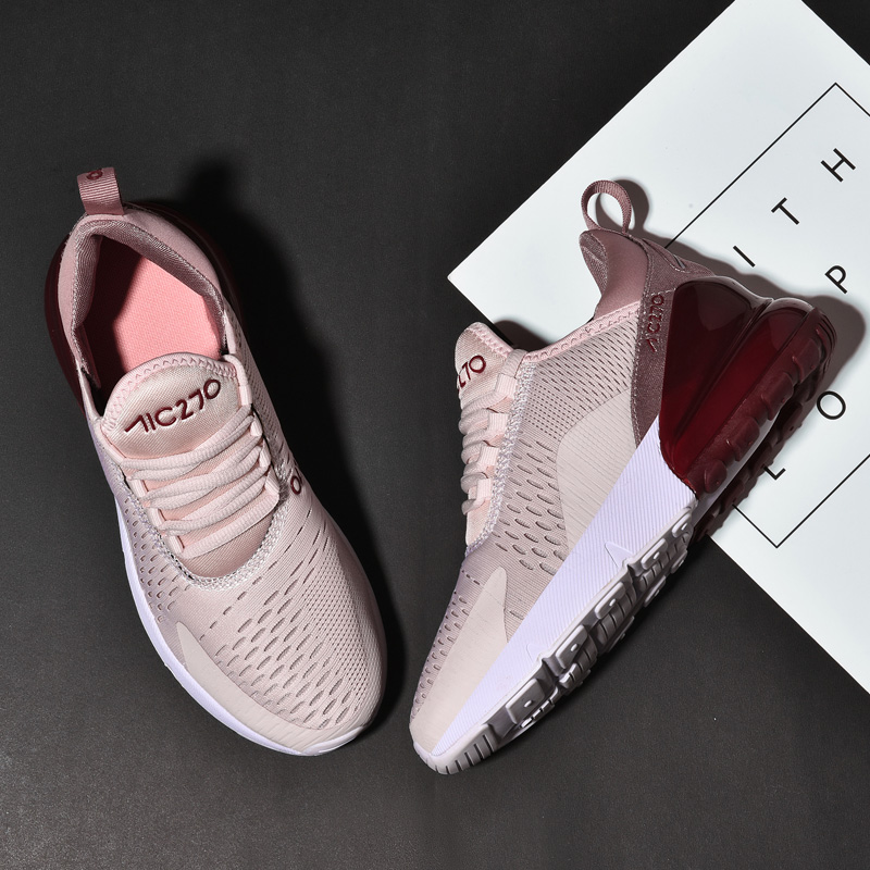 Women Sneakers Flat-Shoes Lace-Up Breathable Plus-Size Fashion Mesh Casual 36-46 title=