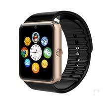 Smart Watch Clock Sync Notifier Support Sim Card Bluetooth Cool Black Mens Fashion LED Digital Outdoor Sports Smart Watch GT0h