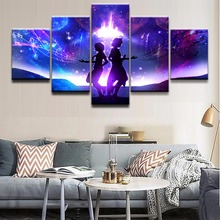 Canvas Poster Wall Art Framework Home Decorative 5 Pieces Sci Fi Character Landscape Painting HD Prints Modular Pictures high quality canvas print poster framework painting wall art home decorative 5 pieces anime unknown landscape modular pictures