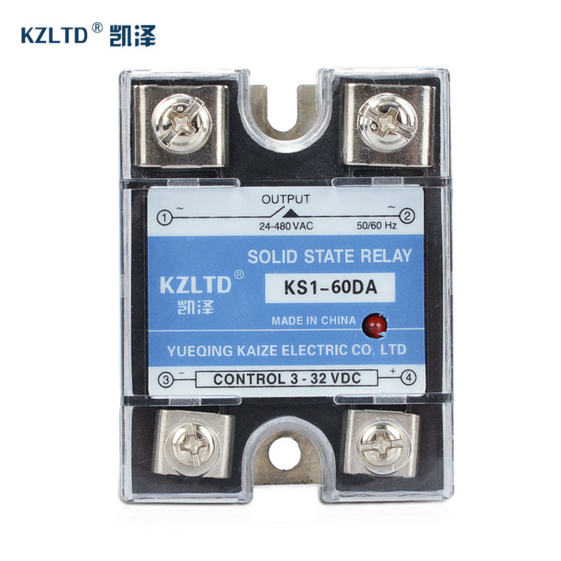Single Phase Solid State Relay 60A <font><b>SSR</b></font> 60A DC AC Solid State Relay <font><b>SSR</b></font>-<font><b>60DA</b></font> PID Temperature Controller <font><b>SSR</b></font> Relay <font><b>SSR</b></font> 60A DC image