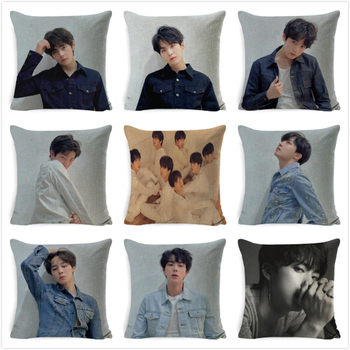 Newest BTS Pillow Case Cushion Cover Sofa Bedding Love Yourself K-pop Home Decor Bangtan Boys Plush Toy For Children Pillowcase
