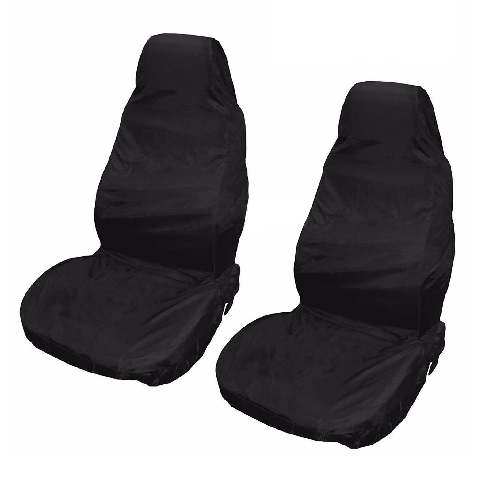 Toyl 2x Универсальный Водонепроницаемый нейлон спереди автомобилей Ван Чехлы для сидений мотоциклов черный пара