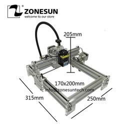 ZONESUN Engraving Machine Laser axe 405nm 2500mW DIY Desktop Mini Laser Engraver Laser Cutter Etcher 17X20cm Adjustable Power