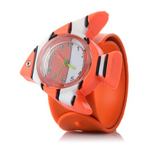 3D Fish Cartoon Watch Animal Milk Dad Cute Children Clock Baby Kid Quartz Waterp