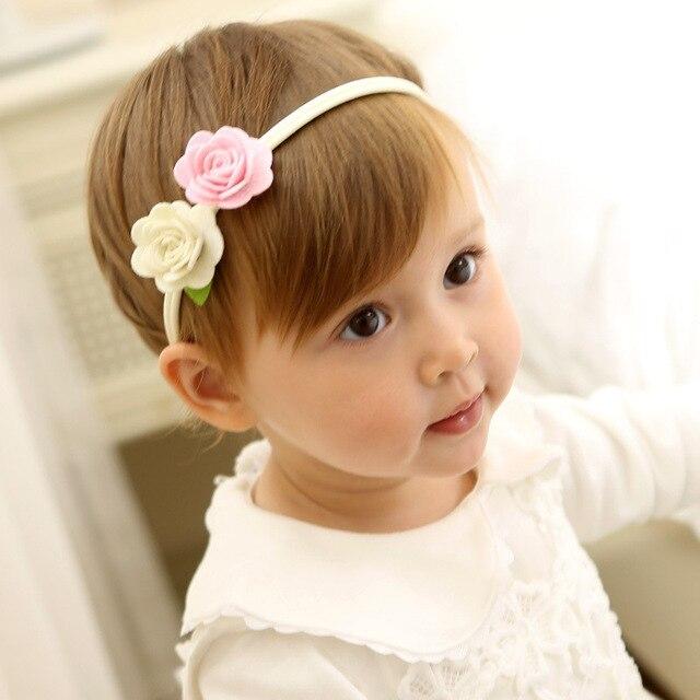 1 Pcs New Design Lovely Flowers Baby Hairbands Elastic Hair Bands