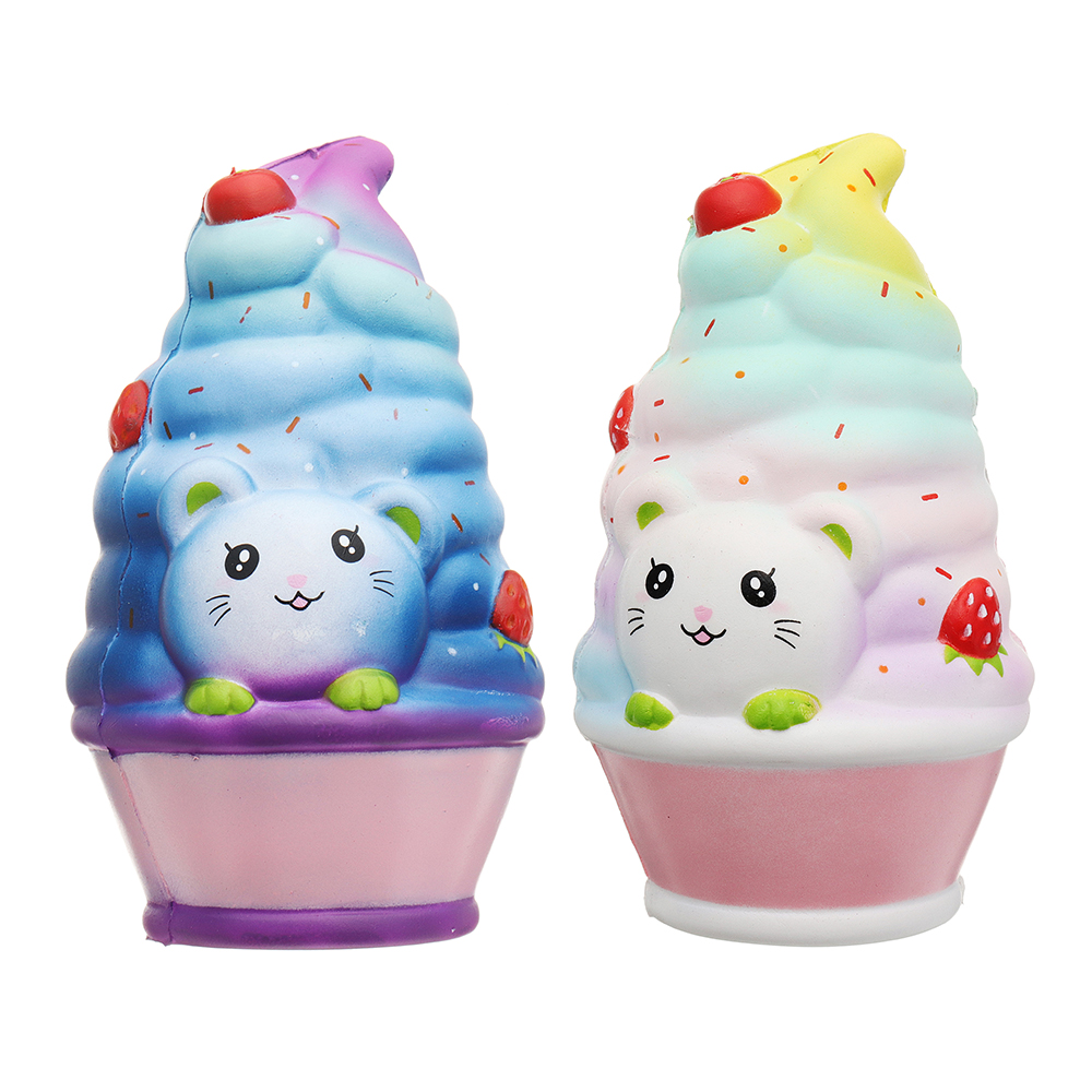 Cat Ice Cream 12cm Slow Rising With Packaging Collection Funny Children Kids Gift Soft Reduce Stress Toy