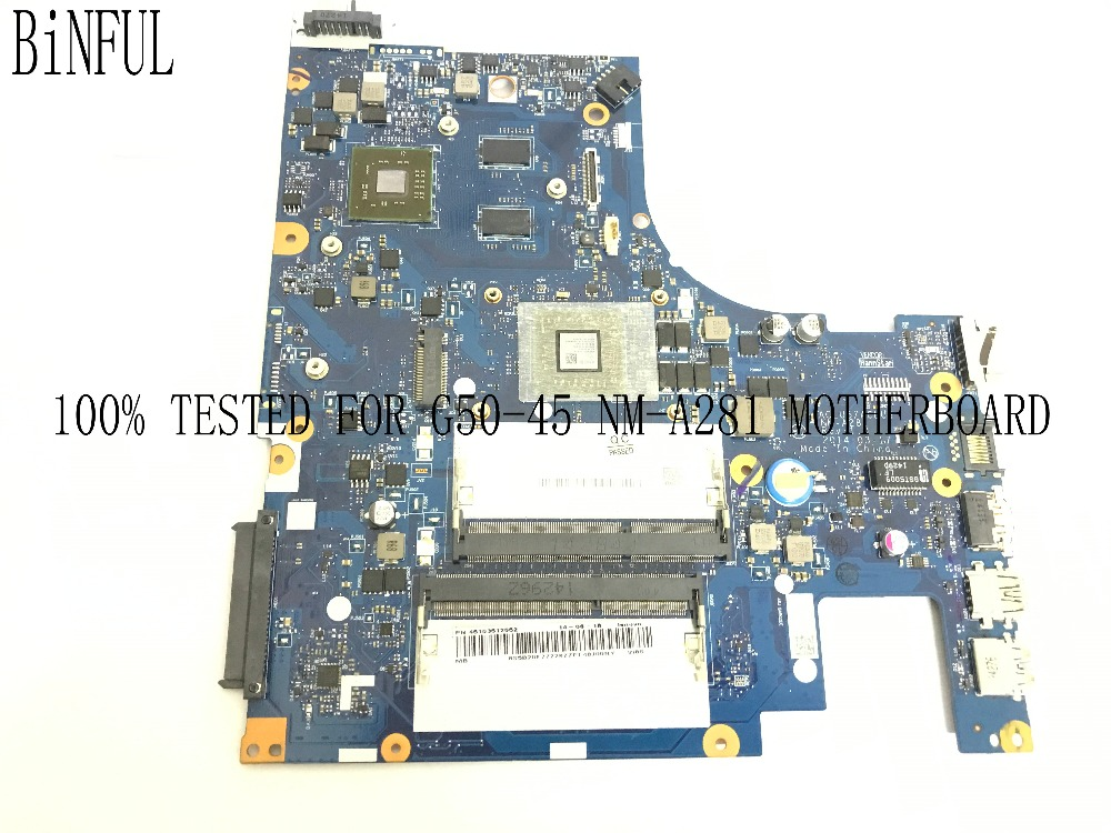 BiNFUL NEW 100% TESTED ACLU5 / ACLU6 NM-A281 LAPTOP MOTHERBOARD FOR LENOVO G50-45 NOTEBOOK PC E1 CPU + WITH VIDEO CARD