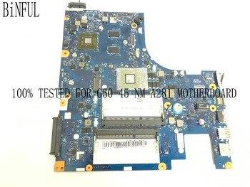Binful 새로운 100% 테스트 된 aclu5/aclu6 NM-A281 노트북 마더 보드 용 lenovo G50-45 노트북 pc e1 cpu + 비디오 카드 포함