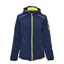 Outdoor camping soft shell female windproof waterproof breathable fleece reflective night-vision ski-wear coat women jacket