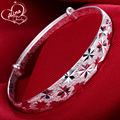 2015 New Sterling Silver Jewelry Bangle S999 Fine Silver Bangles for Women Silver S999 Jewelry Charm Bracelets & Bangles Pulsera