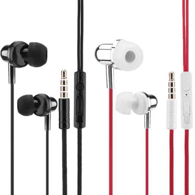 universal 3 5mm in ear bass headset headphone earphone earpiece with