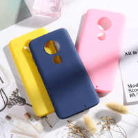 Candy Color Case For Moto G7 G6 Plus 2018 G7 Power Play Cases Soft Silicone Back Cover On the for Moto E5 Play Go Bumper Capa