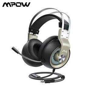 Image 1 - MPOW EG3 Pro Gaming Driver 50 Mm 3.5 Mm USB Có Dây Tai Nghe Với Trên Dòng Điều Khiển Âm Lượng Loại Bỏ Tiếng Ồn mic Cho Máy Tính Xbox