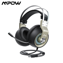 Mpow EG3 Pro Gaming Headset 50mm Driver 3.5mm USB Wired Headphone With On Line Volume Control Noise Cancelling Mic For PC Xbox
