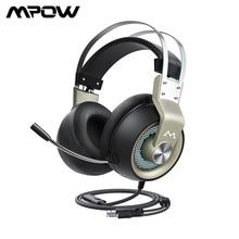 Mpow EG3 Pro gamingowy zestaw słuchawkowy 50mm sterownik 3.5mm USB słuchawki przewodowe z regulacją głośności On Line mikrofon z redukcją szumów na PC Xbox