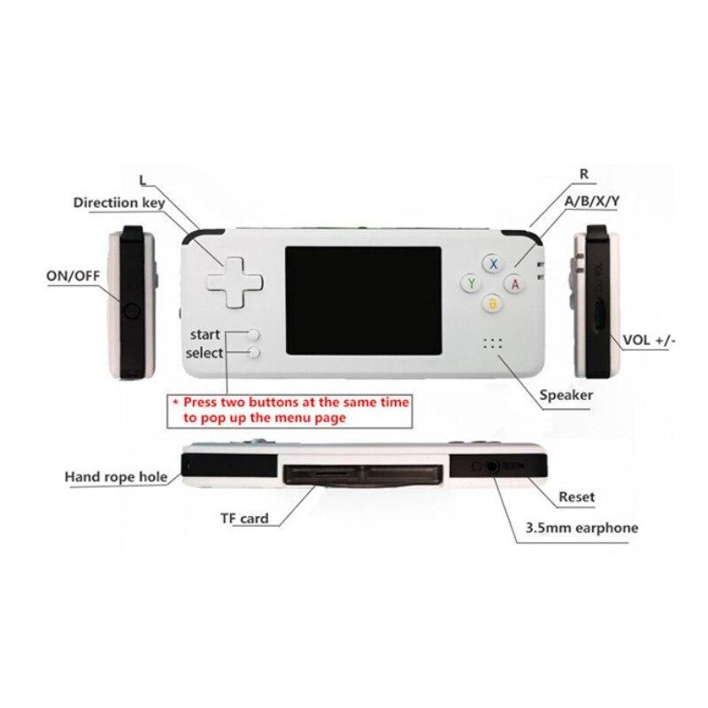 Nouvelle Console de jeu vidéo portable rétro 16 GB jeu vidéo rétro lecteur de jeu portable intégré 3000 jeux