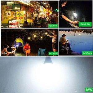 Image 2 - נייד לתלות אור מנורה עם קליפ DC 12V LED הנורה 3W 5W 7W 9W 12W 15W חיצוני מחנה מסיבת לילה דיג חירום