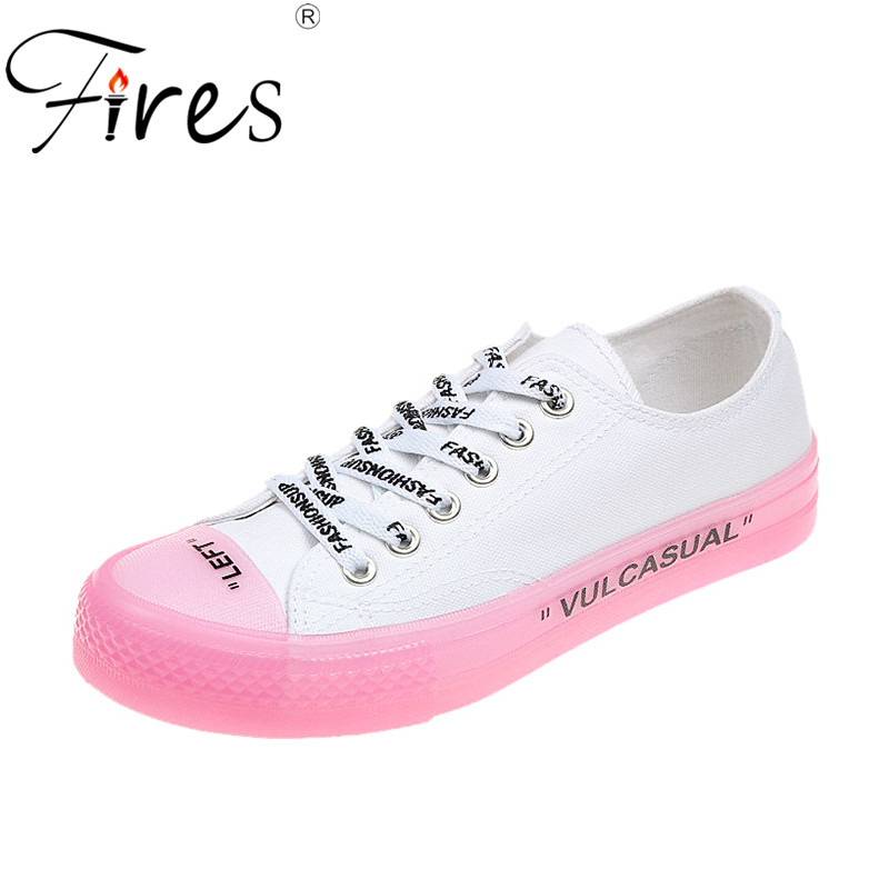 Fires Women Vulcanized Shoes Fashion Solid Color Women Canvas Shoes Lace-up Casual White Ladies Shoes Woman Zapatillas Sneakers цены онлайн