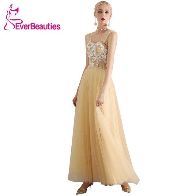 Abendkleider 2019 Evening Dress Long Tulle Appliqued Off The Shoulder Formal  Dresses Prom Party Dresses Robe De Soiree ffc952d88985