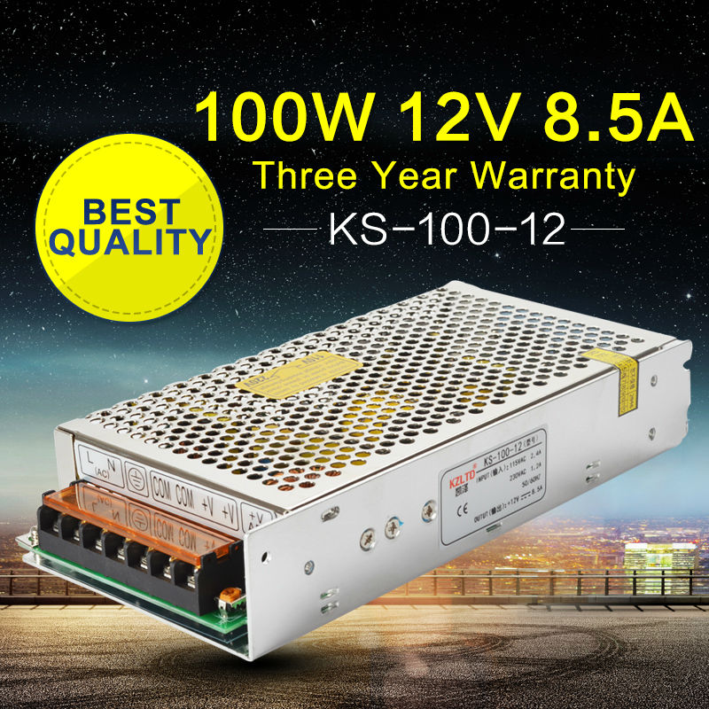 Switching Power Supply 220V to 12V 100W AC-DC Converter Power Adapter for CCTV Camera LED Street Light Building Lighting ac dc switching power supply 12v 15w 220v 110v to 12v dc adapter for led display led string led sign high efficiency mini size