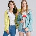 Весна Осень Женская Мода Пальто Куртки Карман На Молнии С Капюшоном Две Стороны Носить Пиджаки Свободный Плюс Размер