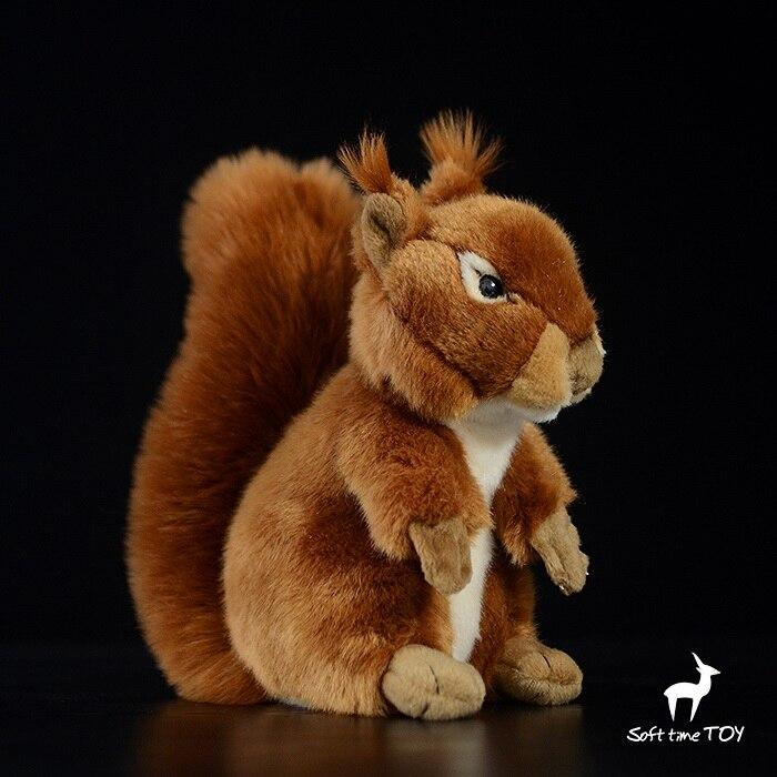 Big Red Squirrel Doll Toy Simulation Wild Animals Children s Toys Gift Stores