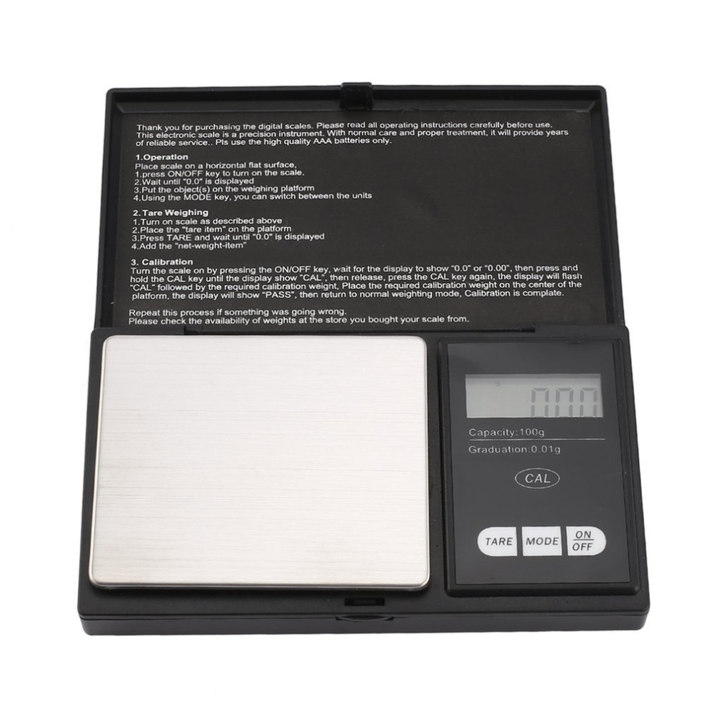 Portable LCD Electronic Digital Scale 0.01g0.1g Platform Scales Mini Weighting For Tea Leaf Kitchen Food Jewelry