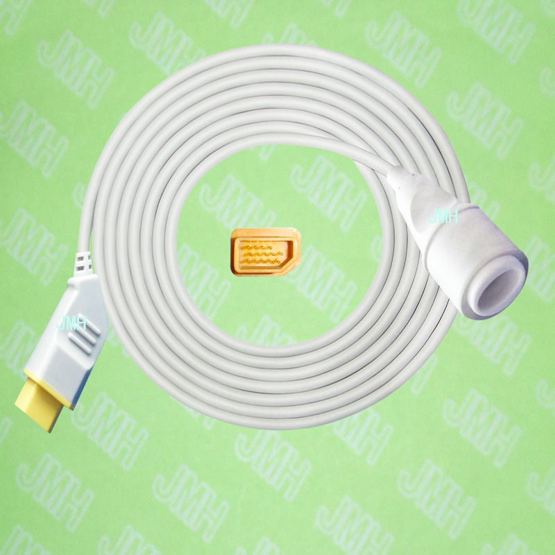 Compatible with Nihon Kohden BSM3200 /4100/5100/9510/9800/1500 the Edward IBP transducer Adapter cable,14pin to 5pin.