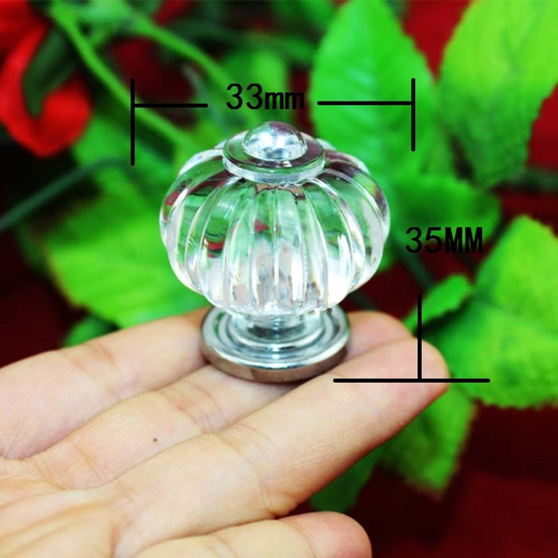 Bulk Modern Crown Handle Acrylic Knobs and Handles Door Alloy Handle Cupboard Drawer Kitchen Pull Knob